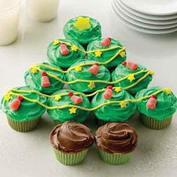 Pullapart Christmas Tree Cupcakes
