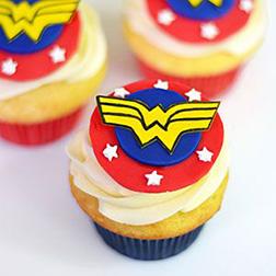 Wonder Woman Classic Cupcakes