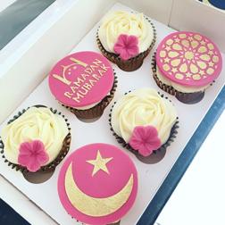 Pretty in Pink Ramadan Cupcakes