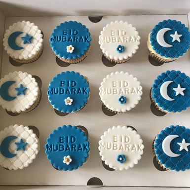 True Blue Eid Cupcakes