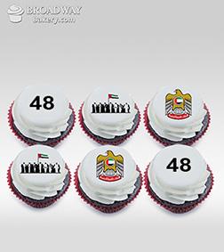 48th Celebration Half Dozen (6) Cupcakes