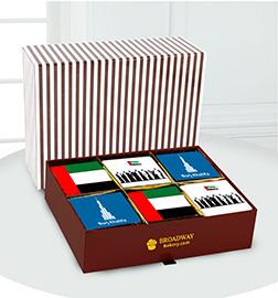 Burj Khalifa National Day Brownie Box