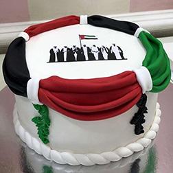 Royal Drapes National Day Cake