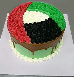 Colors of the Flag Rosette Cake