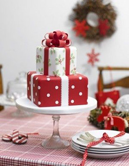 Stack of Gifts Cake