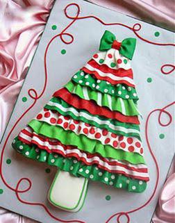 Christmas Frills Cake