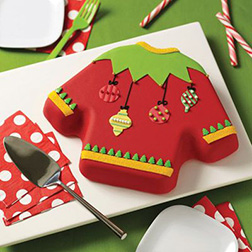 Fancy Christmas Sweater Cake