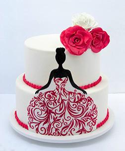Red Masquerade Cake