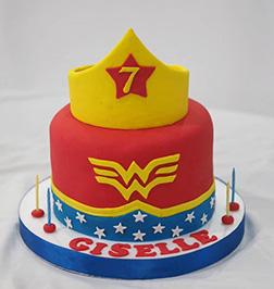 Inner Wonder Woman Cake