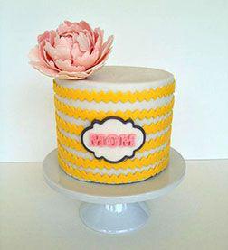 Yellow Bands Cake