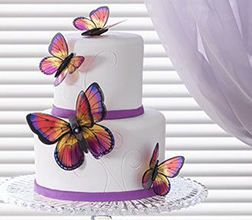 Butterflies Tiered Cake