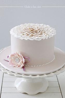 Satin Flower Cake
