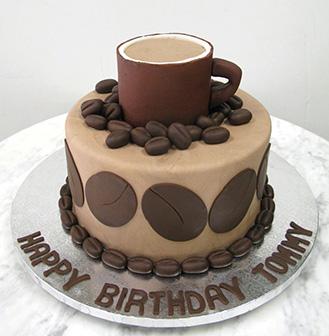 Dark Roast Coffee Themed Cake