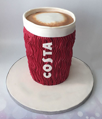 Cup To Go Themed Cake