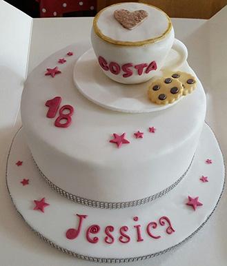 Coffe Club Member's Cake