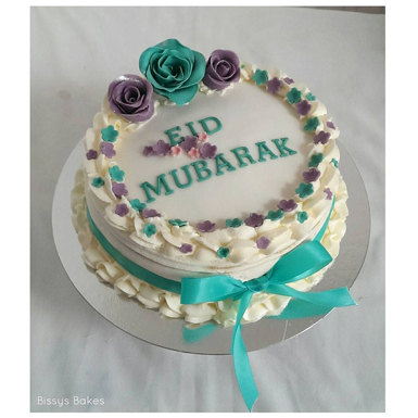 Floral Wishes Eid Cake