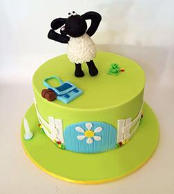 Fun and Frolic Sheep Cake