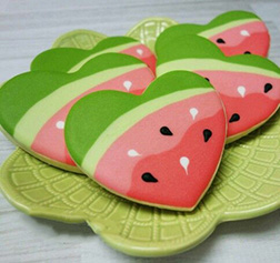 Watermelon Thank You Cookies