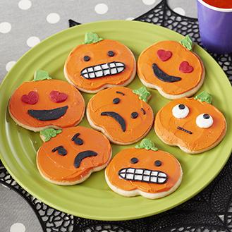Pumpkin Emoji Cookies