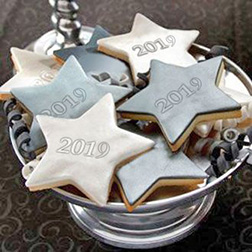 New Year Star Cookies Box