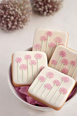 Pink Posy Cookies