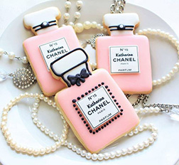 Custom Chanel Perfume Cookies