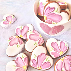 Hearts and Petal Cookies