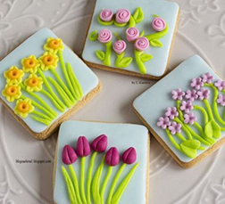 Flowers in the Meadow Cookies