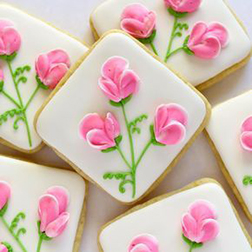 Delicate Flower Cookies