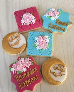 Floral Ramadan Wish Cookies