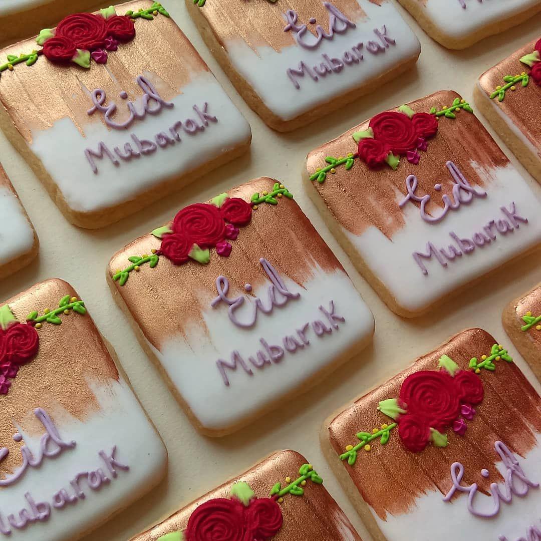 Rose Gold Eid Cookies