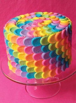 Colors of The Rainbow Cake