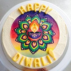 Ornate Diwali Lantern Cake