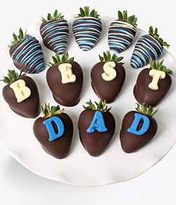 Best Dad Dipped Strawberries