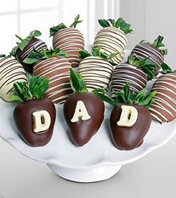 Swizzles for Dad Dipped Strawberries