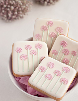 Pink Posy Cookies
