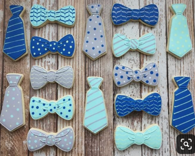 Customized Bow ties Cookies
