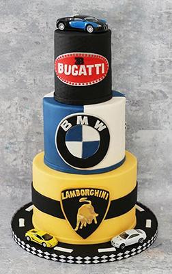 Stacked Luxury Car Cake