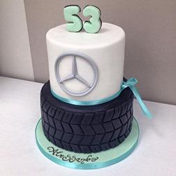 Tiered Mercedes Emblem Cake