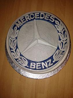 Mercedes Benz Emblem Cake
