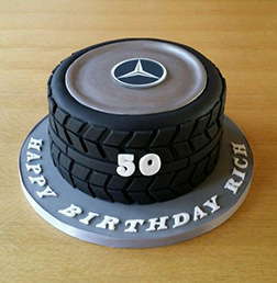 Mercedes Tire Stack cake