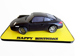 Porsche Carrera Racing Cake