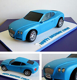 The Blue Blur Car Cake