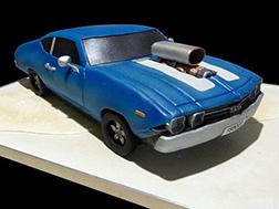 Vintage Muscle Car Cake