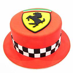 Finish Line Ferrari Cake
