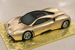 Metallic Gold Sports Car Cake