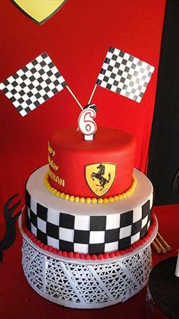 Checkered Flag Ferrari Birthday Cake