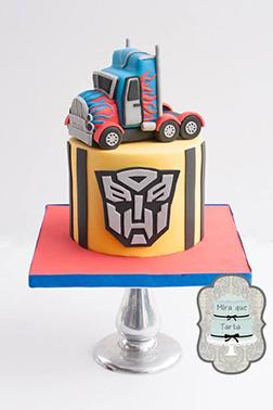 Optimus Prime Transformers Birthday Cake