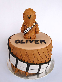 Baby Chewie Star Wars Birthday Cake