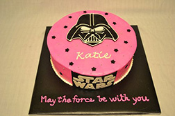 Polka Pink Darth Vader  Birthday Cake